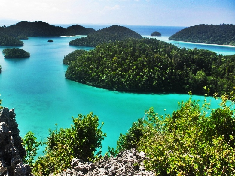 Banda islands in indonesia
